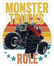 Lplpol 3 Stück Monster Trucks Monster Trucks Rule