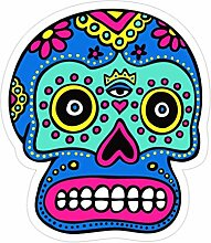 Lplpol 3 x mexikanische Totenkopf-Aufkleber –