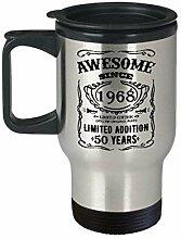 Lplpol 50 th Birthday Travel Mug 50 Happy Fifty