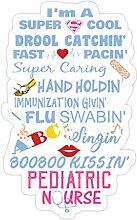 Lplpol Aufkleber für Kinderkrankenschwester &
