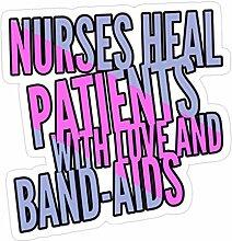 Lplpol Aufkleber für Krankenschwestern, Heilung