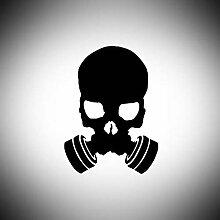 Lplpol Aufkleber mit Gasmaske, Totenkopf,