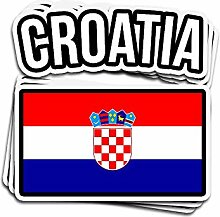 Lplpol Aufkleber mit Kroatien-Flagge, gestanzt,