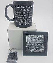 Lplpol Black Wall Street Geschenk-Set Kaffee Tee