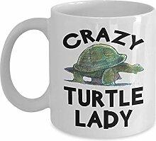 Lplpol Crazy Turtle Lady Kaffeetasse, perfekte