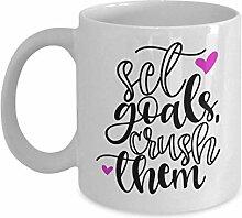 Lplpol Goal Bagger Tassen-Set, Motivationstasse,