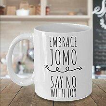 Lplpol JOMO Kaffee Tee Tasse Joy of Missing Out