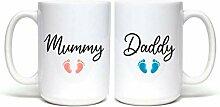 Lplpol Kaffeebecher-Set für werdende Mütter und