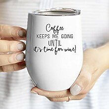 Lplpol Lustiger Becher für Kaffee und Wein mit