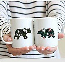 Lplpol Mama und Papa Bär Tassen-Set Papa Bär