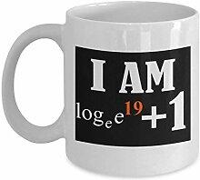 Lplpol Mathematik-Tasse 325 ml zum 20. Geburtstag,