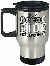 Lplpol Mountain Bike Travel Mug Good Ride Fixes