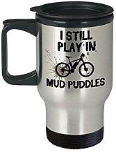 Lplpol Mountain Bike Travel Mug I Still Play in