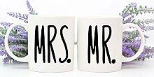 Lplpol Mr and Mrs Tassen-Set für Paare, Tasse mit