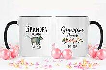 Lplpol Oma Opa Again Est 2019 Kaffee Tee Becher