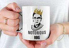 Lplpol Ruth Bader Ginsburg Kaffee-Tee-Becher,