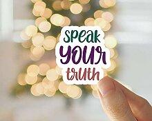 Lplpol Speak Your Truth Aufkleber,