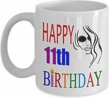 Lplpol Tasse zum 11. Geburtstag für Teenager, 325