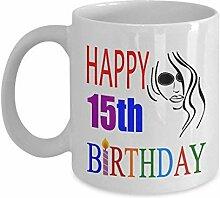 Lplpol Tasse zum 15. Geburtstag für Teenager, 325