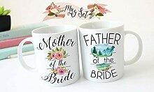 Lplpol Tassen-Set für Mutter und Vater der Braut,