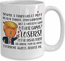 Lplpol Trump Pilot Tasse Trump Freund Geschenke