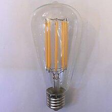 LPQ 1 Stück kwb E26/E27 10W 8 COB 1000 lm Warmes Weiß / Bernstein ST64 Vintage LED Glühlampen AC 85-265 V