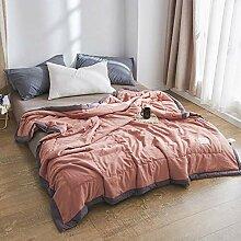 LQ-blanket Gewaschene Baumwolldecke, Faltbare,