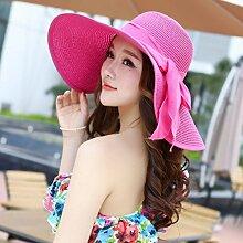 LQABW Sonnenhut Häschen Sonnen Kapuze Canopy Folding Sommer Sundress Frauen-Sonnenschutz Strand Cap,Pink