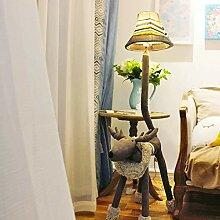 LQBDJPYS Tierstehleuchte Deer Stehlampe Wohnzimmer