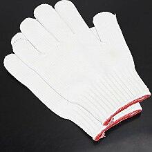 Lqchl 1 Paar Hitzebeständige Backofen Handschuhe Pot Halter Home Küche Kochen Grill Handschuhe Handschutz Weiß