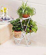 LQCHUAJIA Blumenständer Blumentreppe European Style Flower Racks Indoor Multi - Storey Töpfe Regal Wohnzimmer Balkon Pflanze Regale Anzeige Pflanzentreppe ( Farbe : Weiß , größe : 40*22*66cm )