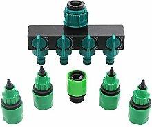 LQKYWNA 4-Wege-Wasserhahn-Verteiler mit