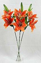 lqnMay 3 Orange Stem künstliche Blumen