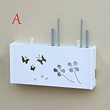 LQQ Wand-Aufbewahrungsbox Regal, Wireless Router