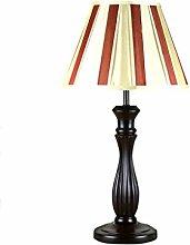 LQQGXL Amerikanische braune Massivholztischlampe Nacht Bett Schlafzimmer Nachthotel Einfache Lampe