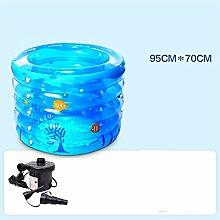 LQQGXL,Bad Kind-aufblasbare Badewanne aufblasbarer aufblasbarer Pool-dickerer thermischer Pool zusammenklappbarer Ozean-Pool-Pool-Wasser-Spielplatz Aufblasbare Badewanne ( Farbe : #4 )