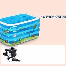 LQQGXL,Bad Kind-aufblasbare Badewanne aufblasbarer aufblasbarer Pool-dickerer thermischer Pool zusammenklappbarer Ozean-Pool-Pool-Wasser-Spielplatz Aufblasbare Badewanne ( Farbe : #10 )