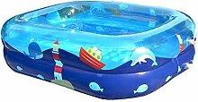 LQQGXL,Bad Kinder aufblasbares Schwimmbecken dick isoliert PVC Babybad transparent blau Aufblasbare Badewanne ( Farbe : 140*110*40cm )