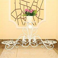 LQQGXL Europäisches mehrschichtiges Eisenregal, dekoratives Blumengestell der Mode. Blumenständer