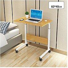 LQQGXLPortabler Klapptisch Computer-Schreibtisch,