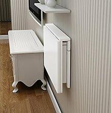 LQQGXLPortabler Klapptisch Doppelstamm-Wandtisch,