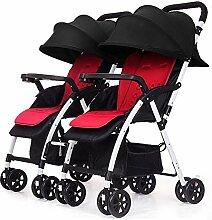 LQRYJDZ Doppel-Kinderwagen, Doppel-Kinderwagen