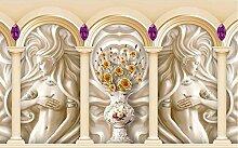 Lqwx 2017 Neue 3D Stereoskopische Tapete Im Europäischen Stil Relief Mädchen Malerei Wallpaper Römischen Lebensechte 3D Wallpaper Wände Für Schlafzimmer 350 Cmx 245 Cm