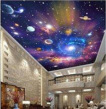 Lqwx 3D-Decke Tapeten Custom Photo Wandbild Die Milchstraße Dekoration Malerei 3D Wandbilder Tapeten Für Wände 3D-430 Cmx 300Cm