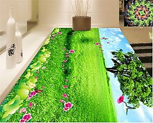 Lqwx3D für die Familie indoor senior Tapete Rasenfläche schönheit 3d-Bodenbeläge malen Papel de Parede 3d Wallpaper tapety-120cmX100cm