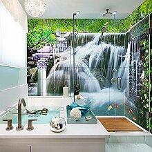 lqwx 3d Stereo Wasserfälle Badezimmer wallpaper