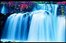 Lqwx 3D-Stock Aufkleber Custom Creative 3D Stock Wasserfall Rutschfeste Wasserfest Selbstklebend Für Bodenfliesen 200 Cmx 140 Cm