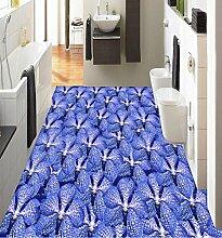 Lqwx 3D-Stock Malerei Tapete Schmetterling Custom 3D-Bodenbeläge Tapeten Für Kinderzimmer Pvc Vinyl Bodenfliesen 430 Cmx 300 Cm