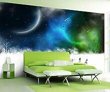 Lqwx 3D Wallpaper Für Wand Benutzerdefinierte Fantasy Sky Winter Schnee Wallpaper Aufkleber Vliestapeten Roll 350 Cmx 245 Cm