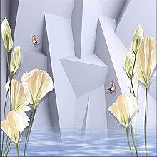 Lqwx 3d Wallpaper Wandbild Kunst Dekoration Bild Hintergrund modernes Wohnzimmer Hotel Restaurant Geometrie Blume papier peint-120cmX100cm